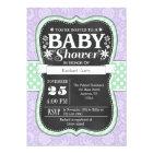 Lavender Mint Chalkboard Floral Baby Shower Invite