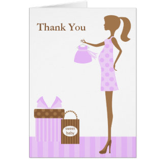Lavender Mom To Be Baby Shower Thank You Greeting Card