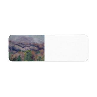 lavender mountains painting by  Gwen Billips Return Address Label