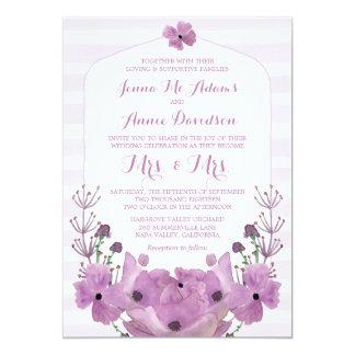 Lavender Mrs & Mrs Lesbian Wedding Invitations