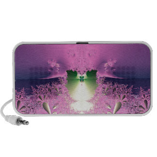 Lavender Night Garden Collection Laptop Speakers