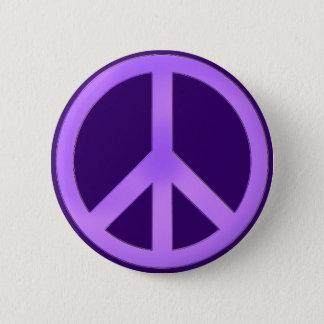 Lavender on Dark Purple Peace Sign 6 Cm Round Badge