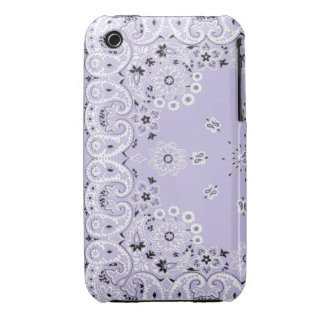 Lavender paisley bandanna iPhone 3G/3Gs cover iPhone 3 Case-Mate Case
