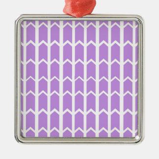Lavender Panel Fence Silver-Colored Square Decoration