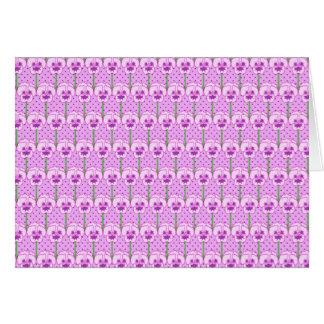 Lavender pansies - retro wallpaper pattern note card
