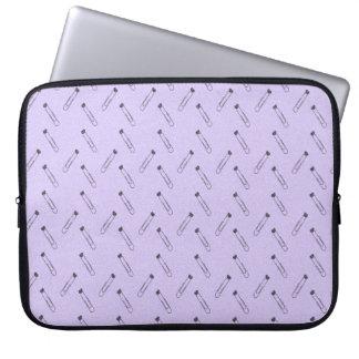 Lavender paper clips laptop sleeve
