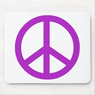 Lavender Peace Sign Mousepads