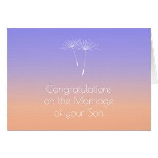 Lavender Peach  Parents of Bride Congratulations Card