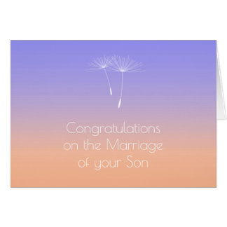 Lavender Peach  Parents of Bride Congratulations Greeting Card