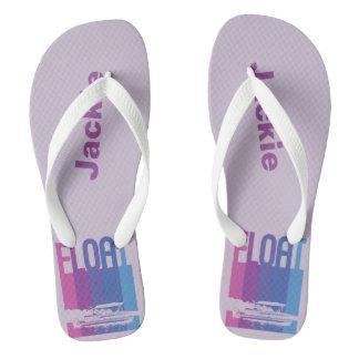 Lavender Personalised Pontoon Boat Flip Flops