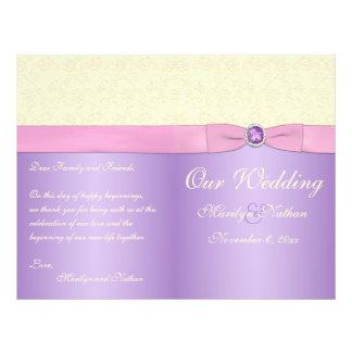 Lavender Pink and Ivory Wedding Program Full Color Flyer
