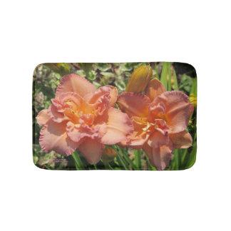 Lavender Pink Double Daylilies Bath Mat