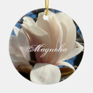 Lavender Pink Magnolia Christmas Ornament