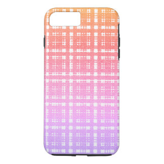 Lavender Pink Modern Plaid Ombre iPhone 8 Plus/7 Plus Case