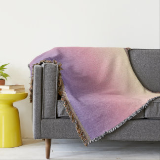 Lavender- Pink- Peach Multicolored Texture Blanket