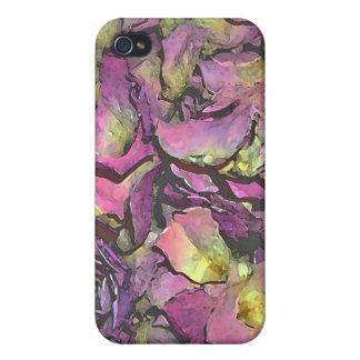 Lavender Pink Rose Petals Watercolor iPhone 4/4S Covers