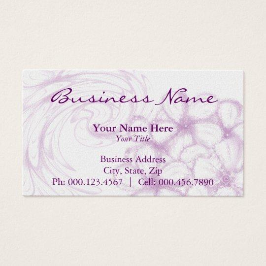 lavender plumeria ~ bc business card