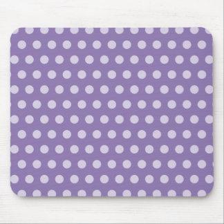 Lavender Polka Dots Mouse Mat