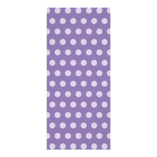 Lavender Polka Dots Rack Card