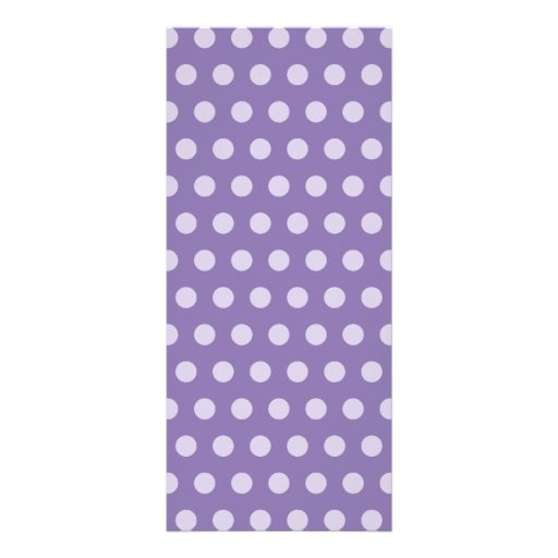 Lavender Polka Dots Customized Rack Card