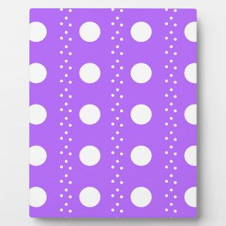 Lavender Polkadot Stripes Plaque
