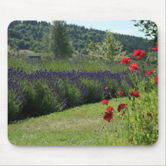 Lavender Poppies Mousepad