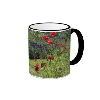 Lavender & Poppies Ringer Mug