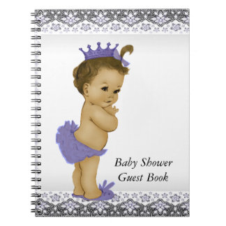 Lavender Purple and Gray Baby Shower Guest Book