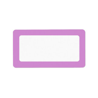 Lavender purple border blank label