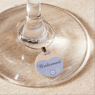 Lavender Purple Bridesmaid Wedding Wine Charm