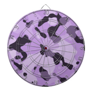 Lavender Purple Camo; Camouflage Dartboard