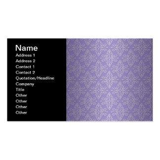 Lavender Purple Damask Pattern Pack Of Standard Business Cards