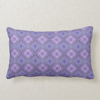 Lavender Purple Diamond Shaped Pattern Lumbar Pillow