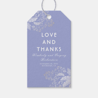 Lavender Purple Elegant Foliage Modern Wedding Gift Tags