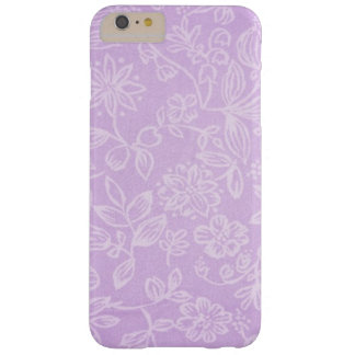 Lavender Purple Floral Fabric Pattern Barely There iPhone 6 Plus Case