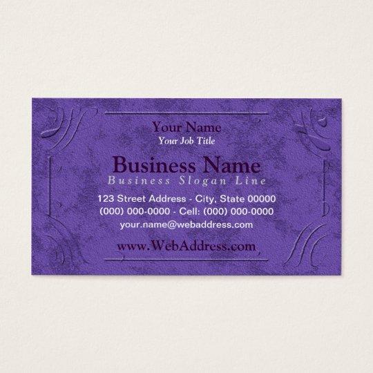 Lavender / Purple Framed Business Cards