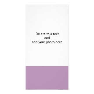 Lavender Purple High End Solid Color Personalised Photo Card