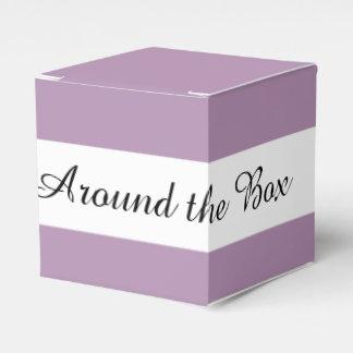 Lavender Purple High End Solid Color Wedding Favour Boxes
