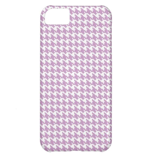 Lavender purple houndstooth tweed zigzag pattern case for iPhone 5C