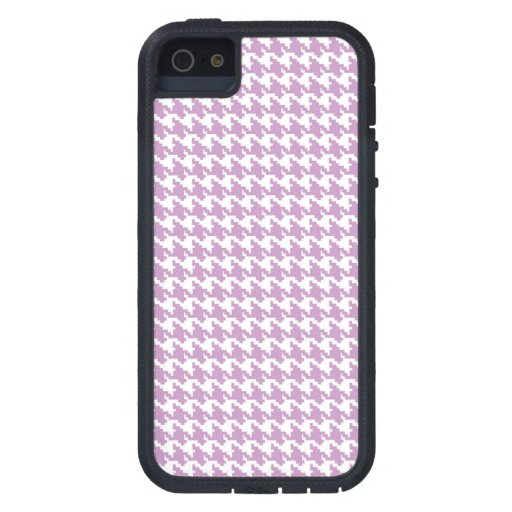 Lavender purple houndstooth tweed zigzag pattern case for iPhone 5