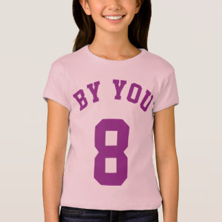 Lavender & Purple Kids   Sports Jersey Design T-Shirt