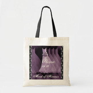 LAVENDER PURPLE Maid of Honour Cotton Tote Bag