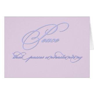 Lavender Purple Peace Card