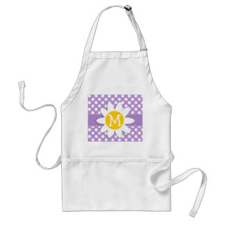 Lavender Purple Polka Dots Adult Apron