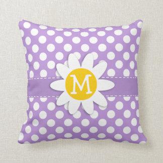 Lavender Purple Polka Dots Cushion