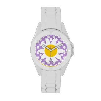 Lavender Purple Polka Dots Watches