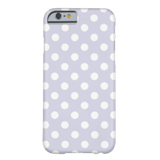 Lavender Purple Polka Dots Pattern Barely There iPhone 6 Case