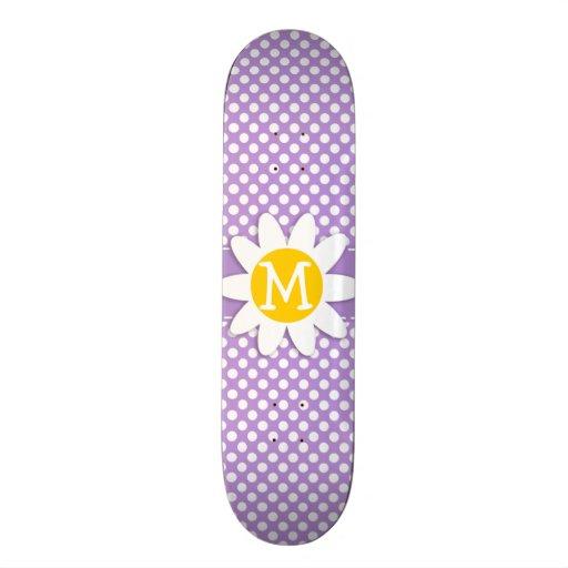 Lavender Purple Polka Dots Skateboard Decks