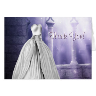 Lavender Purple Quinceanera Thank You Cards
