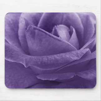 Lavender Purple Rose Macro Flower Mouse Mat
